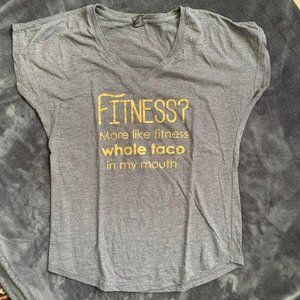 "Anvil Graphic ""Fitness"" Short-Sleeve Tee - Medium"